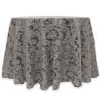 Miranda Damask 60-Inch Round Tablecloth in Grey