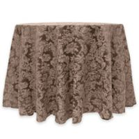 Miranda Damask 60-Inch Round Tablecloth in Chocolate