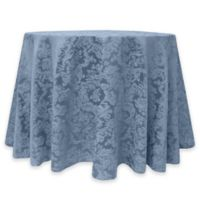 Miranda Damask 60-Inch Round Tablecloth in Slate
