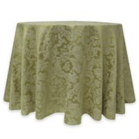 Miranda Damask 60-Inch Round Tablecloth in Sage