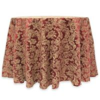 Miranda Damask 60-Inch Round Tablecloth in Bordeaux