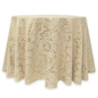 Miranda Damask 60-Inch Round Tablecloth in Champagne