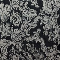 Miranda Damask 60-Inch Round Tablecloth in Black