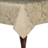 Miranda Damask 60-Inch x 84-Inch Oval Tablecloth in Champagne