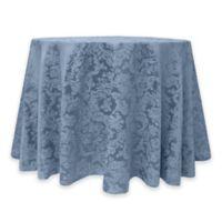 Miranda Damask 72-Inch Round Tablecloth in Slate Blue
