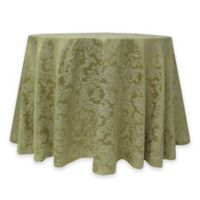 Miranda Damask 72-Inch Round Tablecloth in Sage Green
