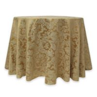 Miranda Damask 72-Inch Round Tablecloth in Dijon