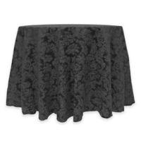 Miranda Damask 72-Inch Round Tablecloth in Black