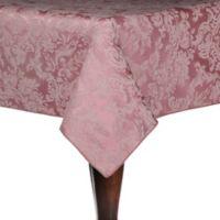 Miranda Damask 60-Inch x 108-Inch Oblong Tablecloth in English Rose