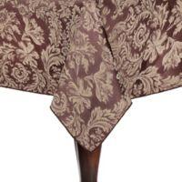 Miranda Damask 60-Inch x 108-Inch Oblong Tablecloth in Chocolate