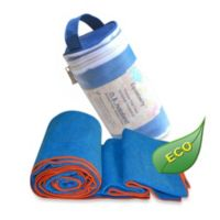 Equanimity Yoga Towel in Blue