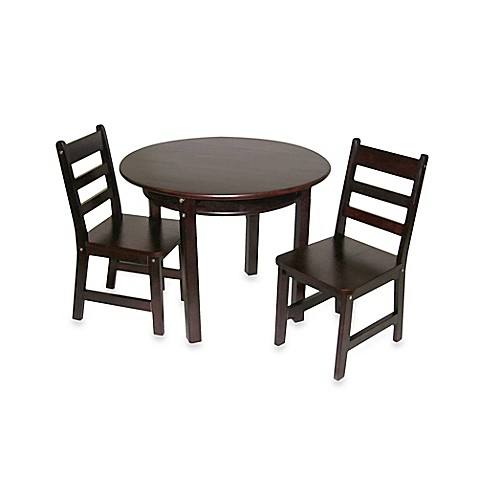 Home Lipper Child 39 S Round Table W Shelf 2 Chairs In