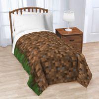 Mojang Minecraft Grass Twin Blanket