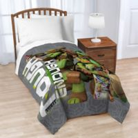 Nickelodeon Teenage Mutant Ninja Turtles® Crash Landing Twin Blanket in Grey