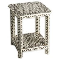 Butler Amelia Bone Inlay Side Table in Brown