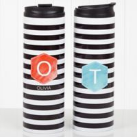 Modern Stripe 16 oz. Travel Tumbler