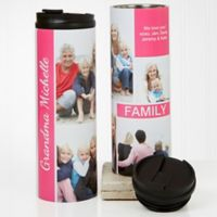 Family Love For Her 16 oz. Photo Collage Travel Tumbler