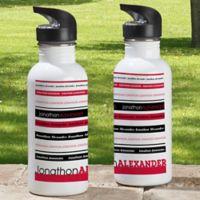 Signature Stripe 20 oz. Water Bottle