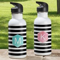 Modern Stripe 20 oz. Water Bottle