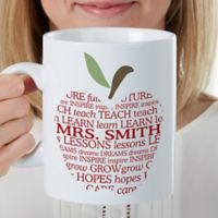Apple Scroll Teacher 30 oz. Oversized Coffee Mug