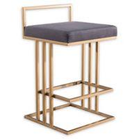 Tov Furniture™ Velvet Trevi 31-Inch Bar Stool in Grey