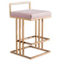 Tov Furniture™ Velvet Trevi 31-Inch Bar Stool in Blush
