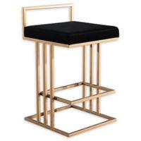 Tov Furniture™ Velvet Trevi 31-Inch Bar Stool in Black
