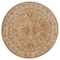 Safavieh Antiquity Leyla 8' Round Handcrafted Area Rug in Brown