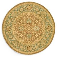 Safavieh Anatolia Dara 8' Round Hand-Tufted Area Rug in Brown