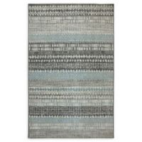 Karastan Eddleston 6'6 x 9'6 Area Rug in Ash Grey/Cream