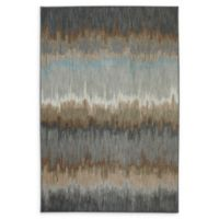 Karastan Cashel Abyss 6'6 x 9'6 Area Rug in Blue/Grey