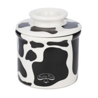 Butter Bell® Cow Crock in Black/White