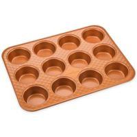 Copper Chef™ Diamond Bakeware 12-Cup Nonstick Muffin Pan