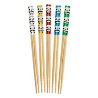 Helen's Asian Kitchen® 5-Pair Panda Bamboo Chopsticks Set