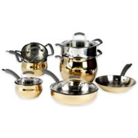 Epicurious® 11-Piece Stainless Steel Cookware Set in Gold