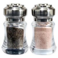 Olde Thompson Bella Salt and Pepper Shaker Set in Brushed Nickel