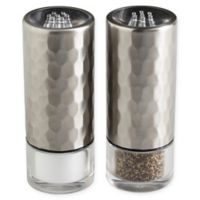Olde Thompson Diamond Salt and Pepper Shaker Set in Stainless Steel
