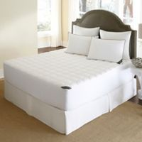 500-Thread-Count Waterproof Twin Mattress Pad in White