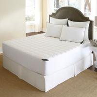 500-Thread-Count Waterproof Twin Mattress Pad in White