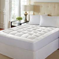 High-Loft Memory Foam King Mattress Pad in White