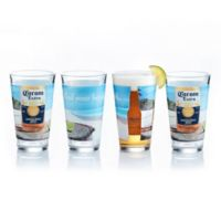 """Corona by Luminarc® """"Find Your Beach"""" Pub Glasses (Set of 4)"""