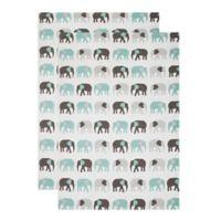 MU Kitchen™ Elephants Designer Print Kitchen Towels(Set of 2)