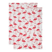 MU Kitchen™ Flock of Flamingos Designer Print Kitchen Towels (Set of 2)
