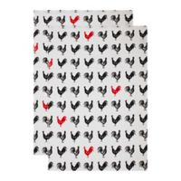 MU Kitchen™ French Hen Designer Print Kitchen Towels (Set of 2)