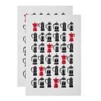 MU Kitchen™ French Press Designer Print Kitchen Towels (Set of 2)