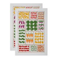 MU Kitchen™ Garden Patch Designer Print Kitchen Towels (Set of 2)