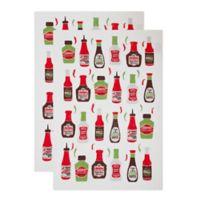 MU Kitchen™ Hot Sauce Designer Print Kitchen Towels (Set of 2)