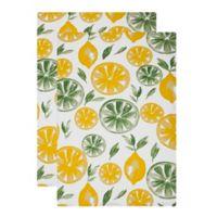 MU Kitchen™ Lemon Lime Designer Print Kitchen Towels (Set of 2)