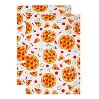 MU Kitchen™ Pizza Party Designer Print Kitchen Towels (Set of 2)