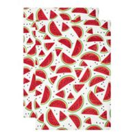 MU Kitchen™ Watermelon Designer Print Kitchen Towels (Set of 2)
